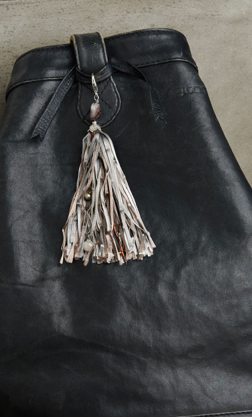 tassel on purse