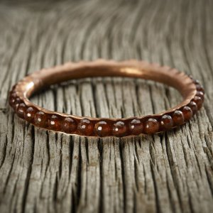 Hessonite Garnet Copper Bracelet